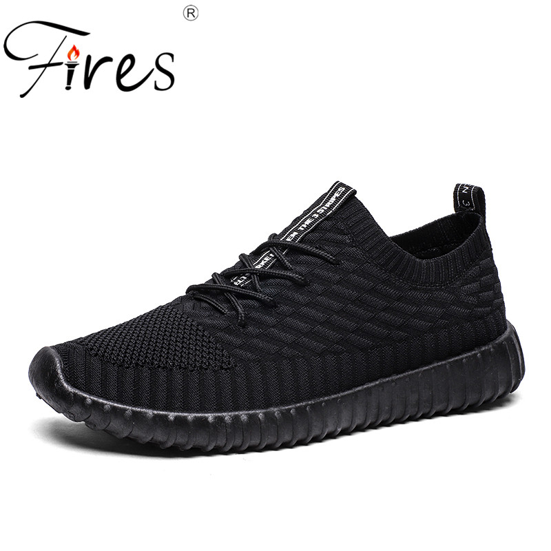Fires Running Sneakers For Men Breathable Mesh Couple Sports Shoes Lightweight Lace-up Shoes For Unisex Outdoor Walking Sneaker