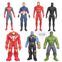 45cm High quality the avanger spiderman/iron man/Captain American action figure collectible model toys for boys(China)