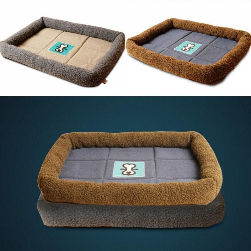 new sheep cake velvet pet dog bed large size dog pad pet small dog cat - Xl Dog Beds