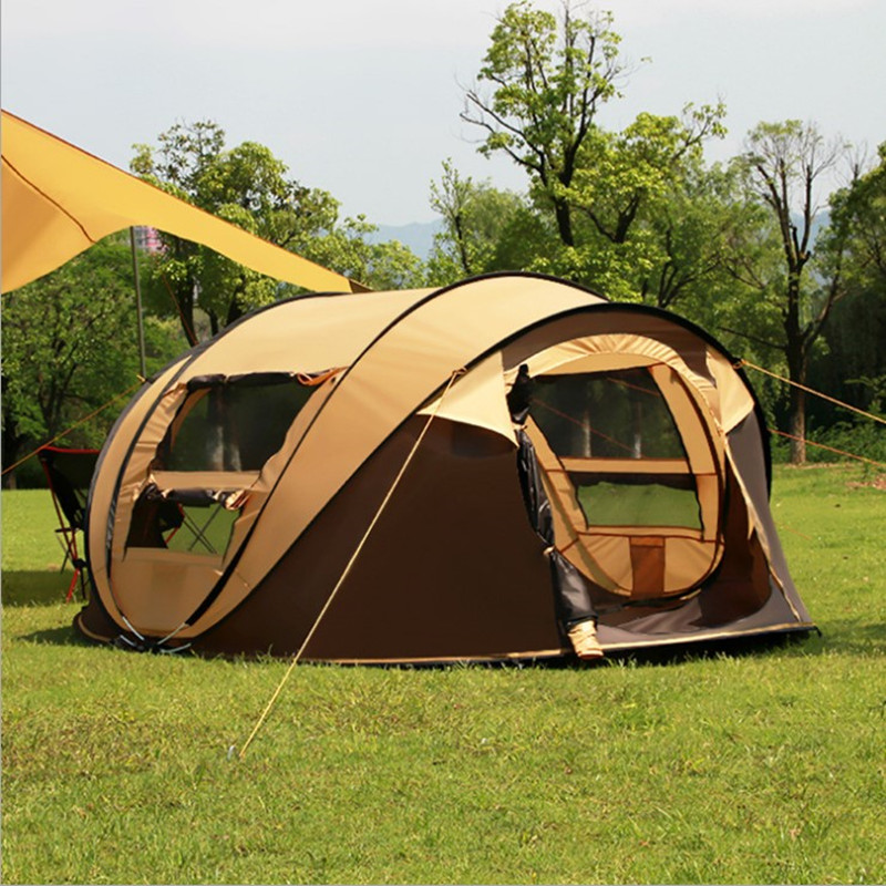 2017 New 4-5 people 280*200*120cm Super Automatic Ultra-light Building Quick Automatic Opening Camping Tent цена