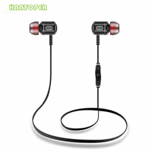 Mais novo De Metal Fones de Ouvido Bluetooth Estéreo Sem Fio Com Microfone HD em Fones De Ouvido para o iphone 6/6 s Android móvel telefone