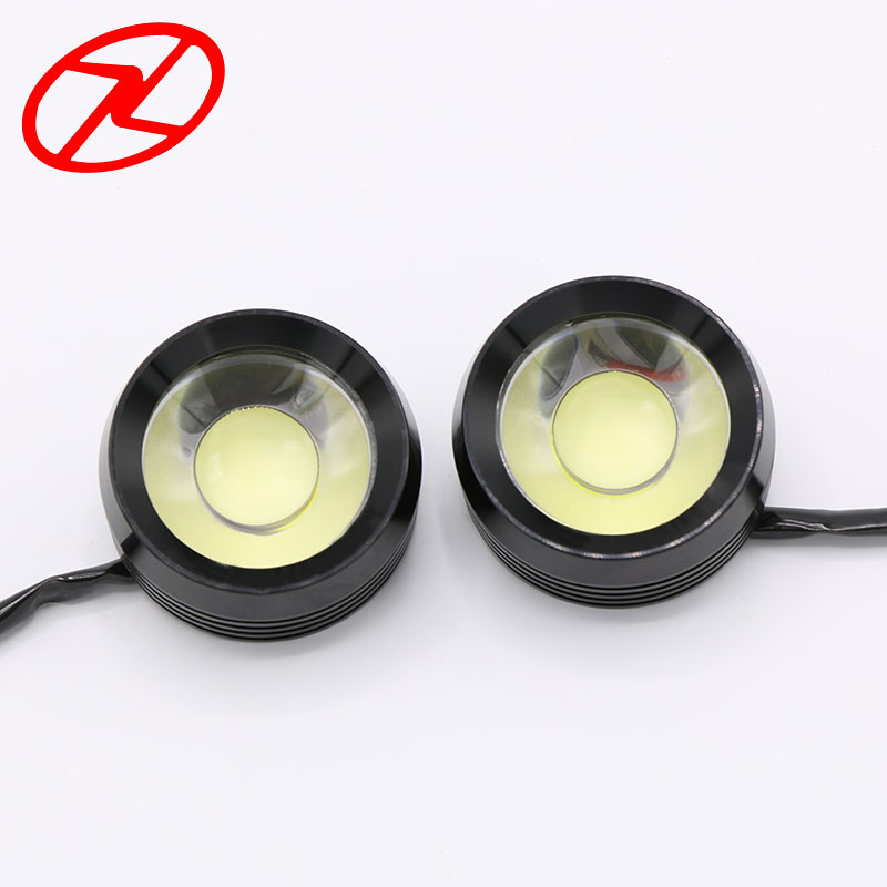 2PCS COB DRL Daytime running light LED Driving Daylight Waterproof White Color 55mm round fog lamp projector lens 1 pair metal shell eagle eye hawkeye 6 led car white drl daytime running light driving fog daylight day safety lamp waterproof