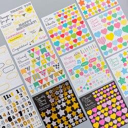 1 лист мультфильм геометрический Дневник стикеры s Post It Kawaii планировщик Memo DIY стикер для скрапбукинга канцелярские новый ребенок игрушка s