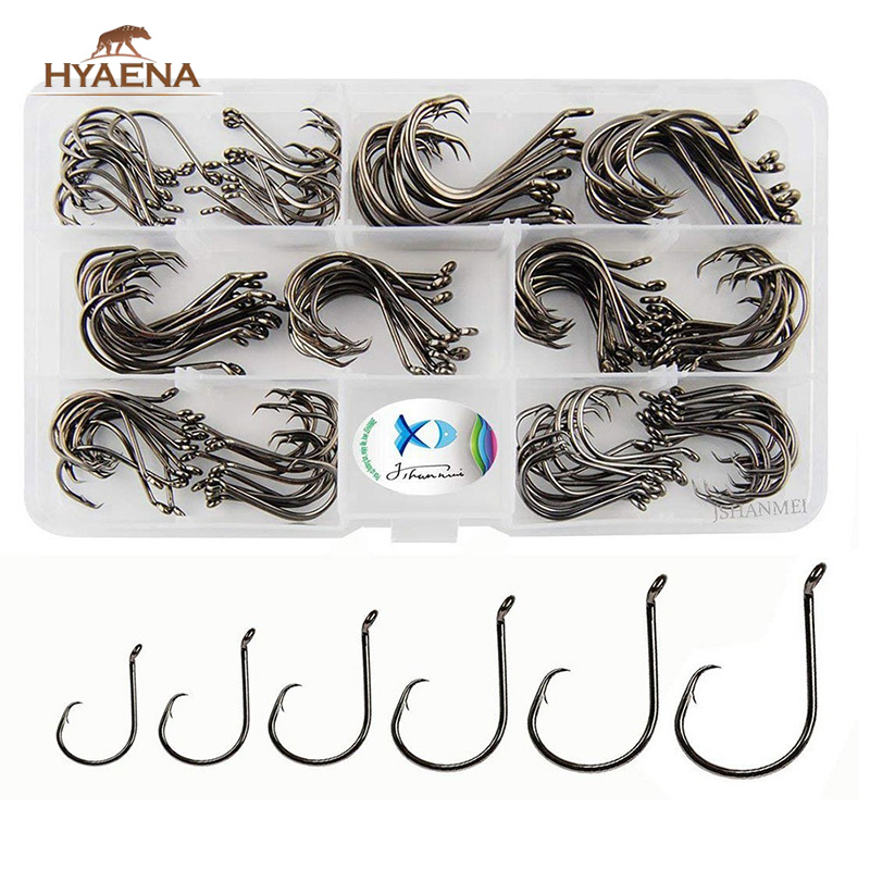 50 Size #3//0 Circle Hooks Black Nickel High Carbon Sport Octopus 2X STRONG FREE