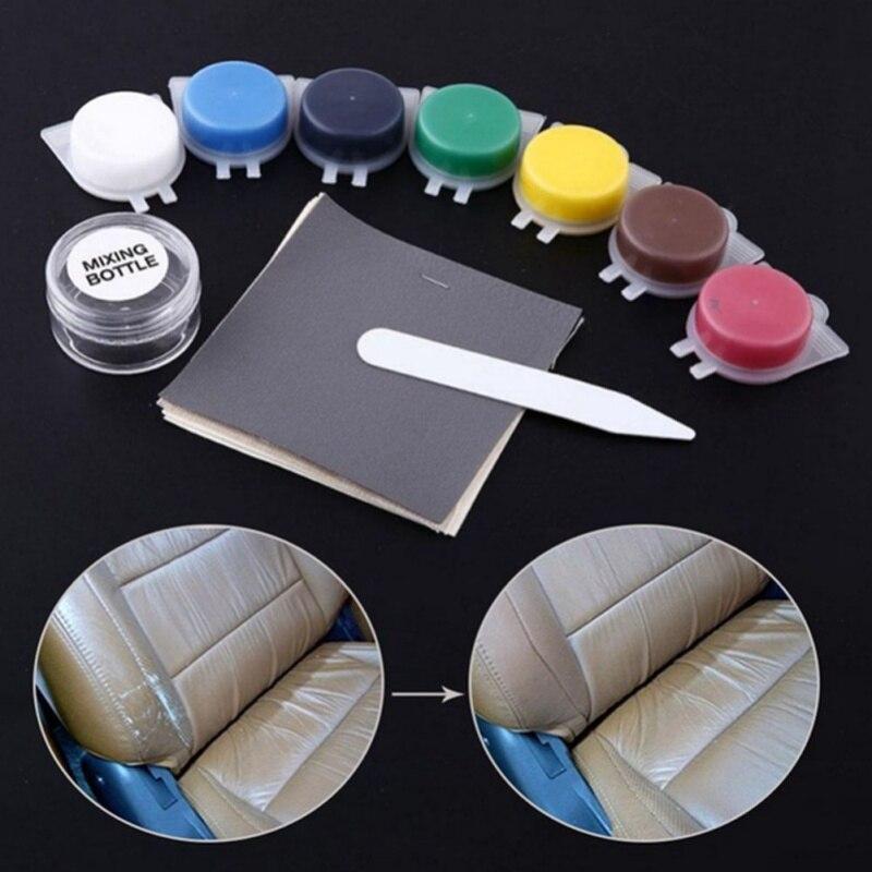 Herramienta de reparación de cuero para automóvil, asiento de coche, sofá, abrigos, agujeros, grietas, cuero líquido térmico, Kit de reparación de vinilo Universal