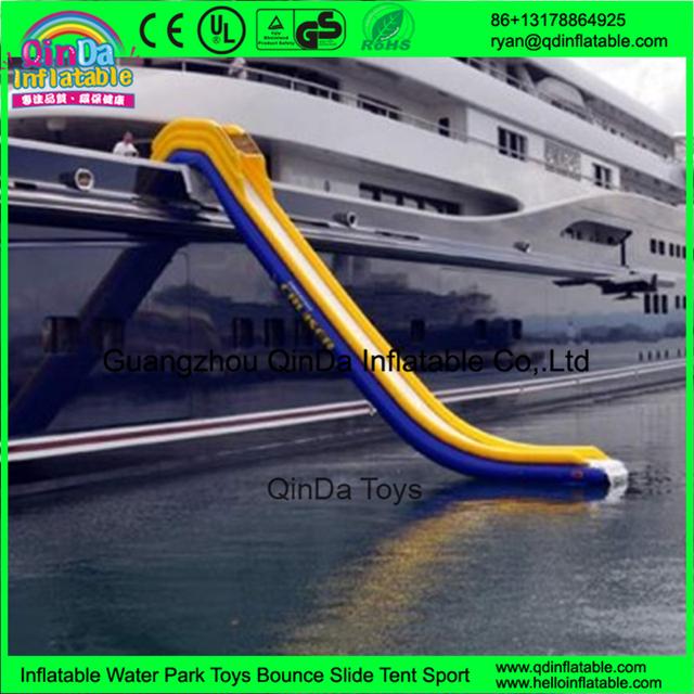 Interessante Inflável Lâmina de Água Flutuante para Barco Iate iate inflável slide
