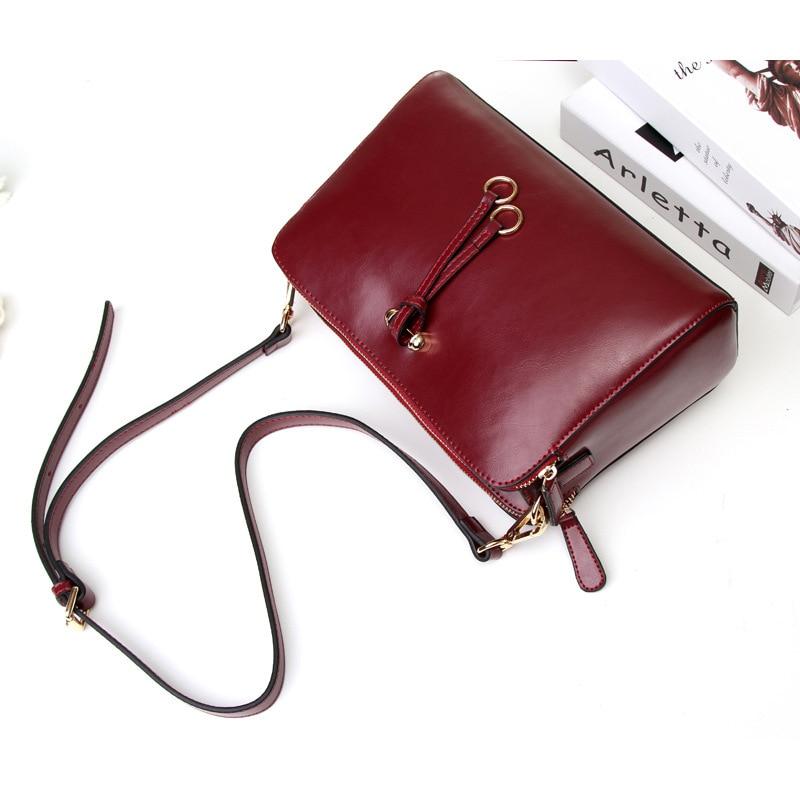 Genuine Leather Women's Flap bag New Ring ornaments design Female Casual Women Shoulder Bag Soft Cowhide Crossbody bag Handbags