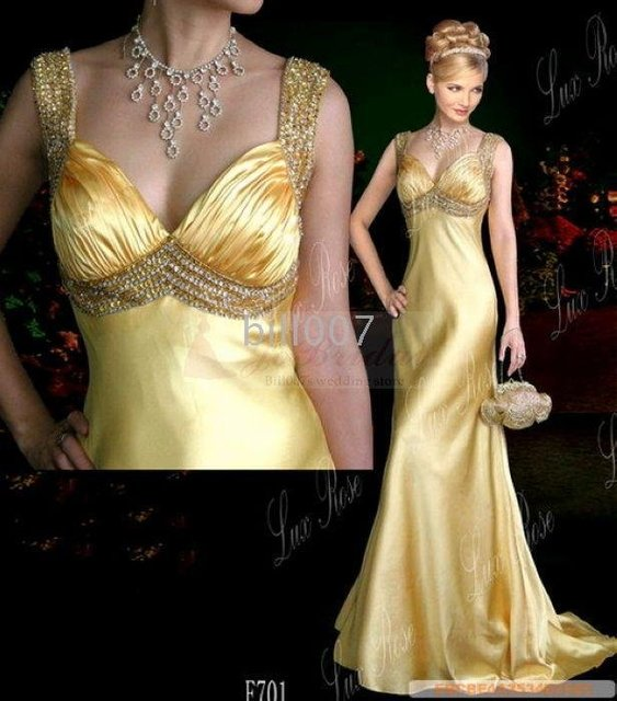 v-neck Celebrity Dresses 2009 Sexy Style strappy sheath chiffon