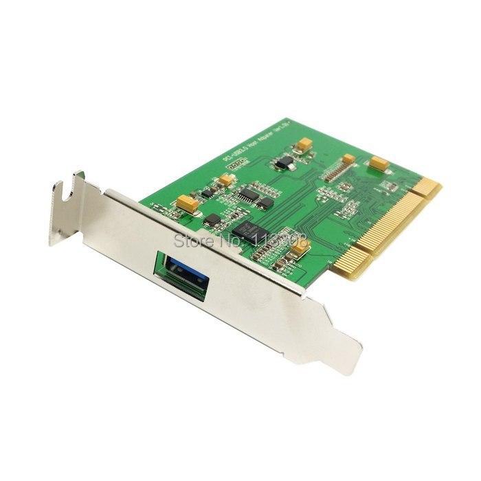 10 pcs/lots Port unique Super vitesse USB 3.0 PCI 16x 32x carte d'interface pour PC avec support de profil bas, par UPS DHL TNT Fedex
