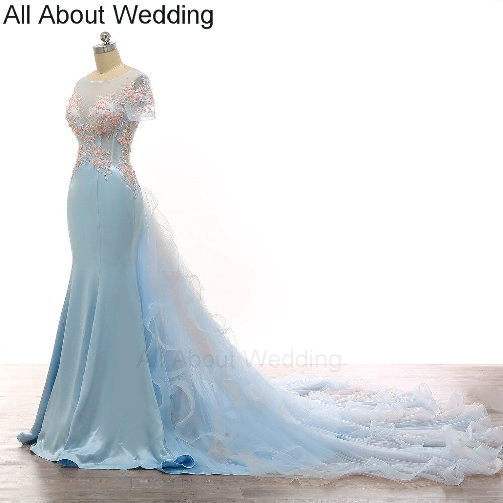 Online buy wholesale light blue wedding dress from china for Short light blue wedding dress