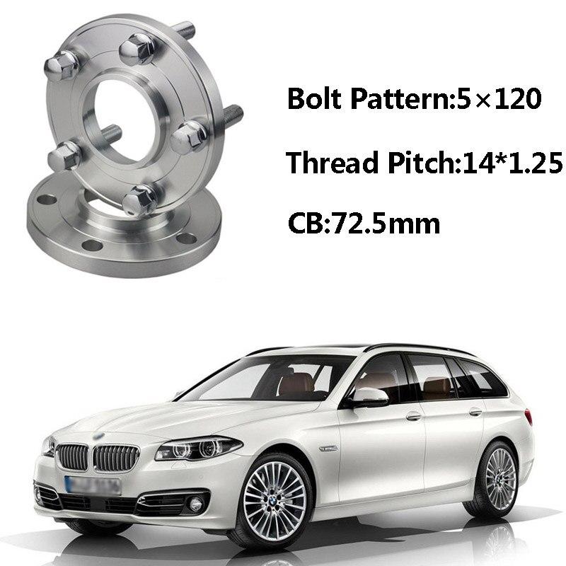 2 pièces 5x120 72.5CB Centric Entretoise De Roue Moyeux M14 * 1.25 Boulons Pour BMW F11 F21 F33 F25 F20 F15 F34 F12 F02 F03 F10 F26 F01 F30