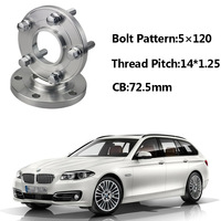 2pcs 5x120 72.5CB Centric Wheel Spacer Hubs M14*1.25 Bolts For BMW F11 F21 F33 F25 F20 F15 F34 F12 F02 F03 F10 F26 F01 F30