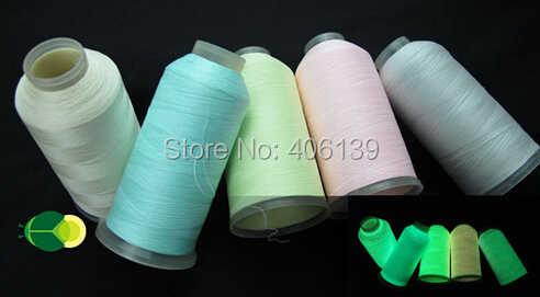2014 Горячая продажа светится в темноте нить 2500y/конус 120D/2 синий нейлон вышивка нить с бесплатной доставкой.