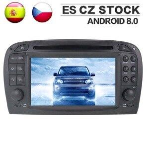 Android 8,0 автомобильный Радио Стерео GPS головное устройство для Mercedes Benz SL R230 2001 2002 2003 2004 автомобильный DVD плеер Авто Видео Мультимедиа