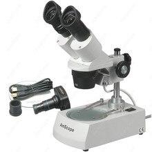 Wholesale Forward Stereo Microscope–AmScope Supplies 5X-10X-15X-30X Forward Stereo Microscope + Digital Camera