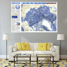 Arctic Ocean Map High Quality Picture Print on Canvas Office Decorations Fashion Wall Art No Frame Home Artwork Multicolor