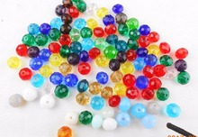 Color 6MM 100piece/lot Rondelle Glass Crystal Stand Beads Free Shipping Wholesale