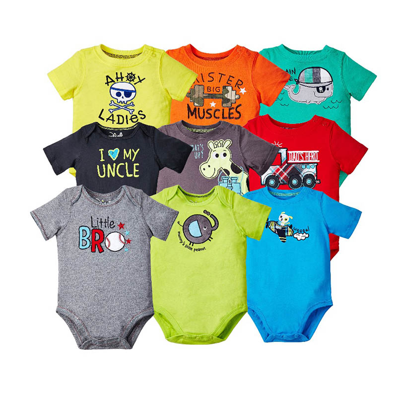 Baby jumpsuit 100% cotton romper summer baby clothes cartoon newborn clothing Boys Girls Roupas Bebe Infantil random delivery newborn baby rompers baby clothing 100% cotton infant jumpsuit ropa bebe long sleeve girl boys rompers costumes baby romper