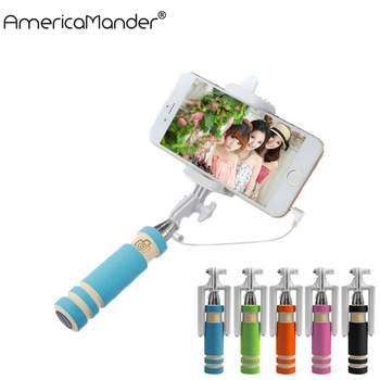 Universal MINI Selfie Stick Monopod Stick Selfie for Iphone samsung Android IOS Wired Palo Selfie Groove Camera Para
