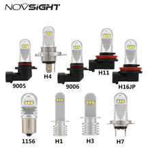 H11 Led Bulb HB4 Led HB3 9006 9005 H4 H7 Fog Lights 1500LM 6000K 12V White DRL Daytime Running Car Lamp Auto Light Bulbs D50