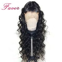 Deep Wave Lace Front Human Hair Wigs For Black Women Brazilian Remy Curly Frontal Lace Wigs With Baby Hair Pre Plucked Hairline