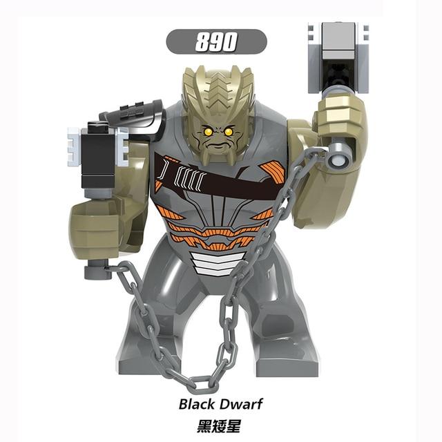 Para Clayface LEGOING Tamanho Grande Hulk Figuras Anão Preto Anti-Veneno Veneno Wolverine Marvel Herói Modelo de Blocos de Construção Tijolos brinquedos