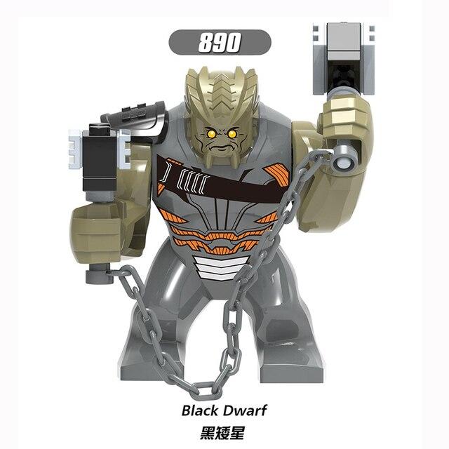 Para o Tamanho Grande Hulk Figuras Anão Preto Clayface Anti-Veneno Veneno Wolverine Marvel Herói Modelo de Blocos de Construção Tijolos Brinquedos