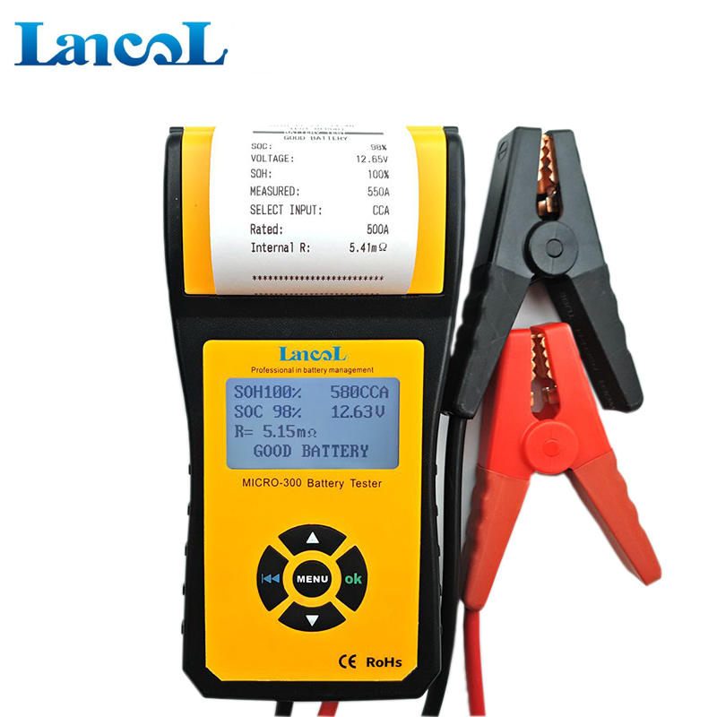 Image 4 - MICRO 300 Professional Lancol Diagnostic Tool battery Tester Analyzer CCA Battery Tester With Printer 200ah Internal Resistance-in Battery Measurement Units from Automobiles & Motorcycles on