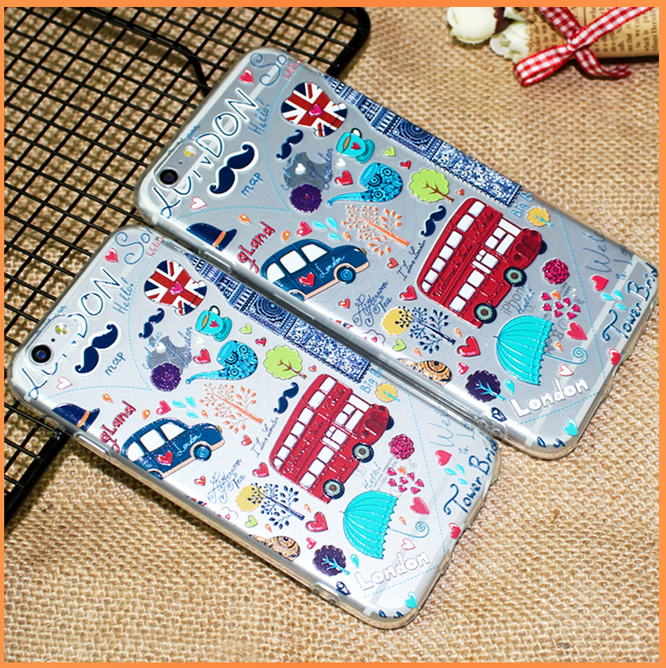 !ACCEZZ TPU Soft Cartoon 3D Protective Back Cover For Apple iphone 66s78 Plus Case Creative Patterned Phone Shell Funda Coque (15)