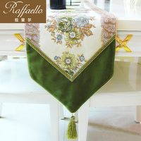 Rafael home upscale dining table Bubu arts gold and silver embroidered table runner European coffee table cloth place mat grass
