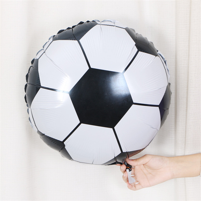 5pcs <font><b>18</b></font> inch Football Soccer Foil Balloons Birthday Gift Theme Party Celebration Children's Day Decoration Mylar Globos Kids Toy image