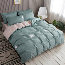 2019 bedding set blue green duvet cover bed set geometric flat sheet pineapple bedclothes 4pcs bed linenset Nordic home textile(China)