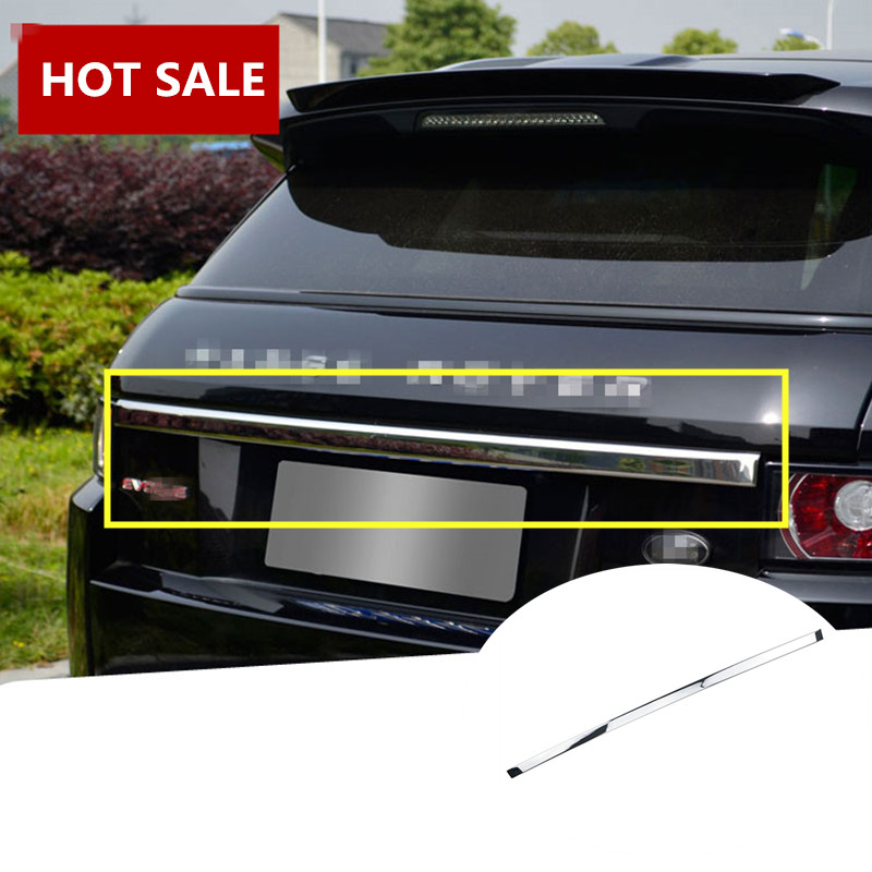 For Land Rover Range Rover Evoque Silver Rear Door Trunk Lid Cover Trim 2012-2016 4pcs abs interior door cover trim for land rover range rover evoque 2011 2016