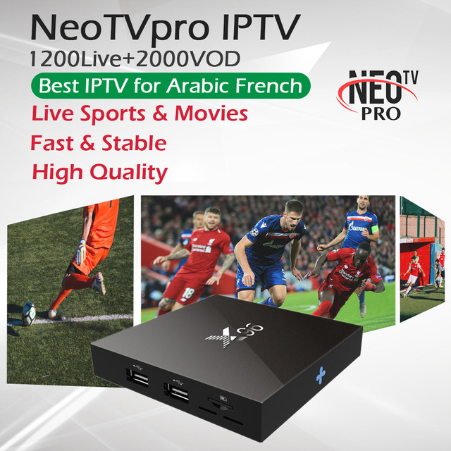 1 Year Arabic France IPTV Subscription NeoTVpro X96 Android TV Box 1G 8G 2G 16GB Amlogic