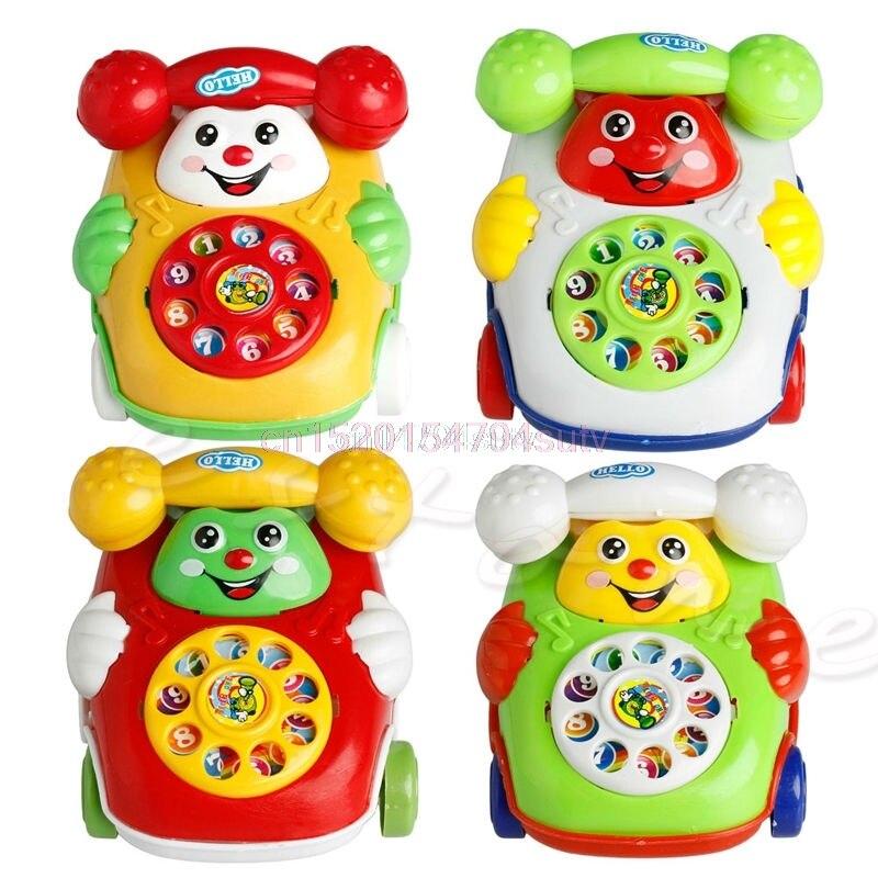1Pc Brinquedos Educativos Telefone Música Dos Desenhos Animados Do Bebê Developmental Toy Kids Presente Novo # H055 #
