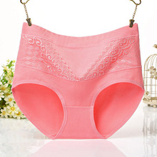 Large Size L XL 2XL 3XL 4XL Abdomen Cotton Lace Panties Underwear Women Fashion Loose Waist for