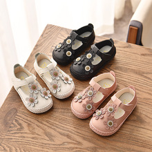 Kids Shoes Princess flat shoes Children Leather Party Dress Flat Little Girls Shoes girl flats