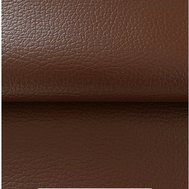 140x50cm Dark Brown Soft Leather Fabric Sofa Cloth Bag Big Litchi Grain  Leather Diy Manual Bag