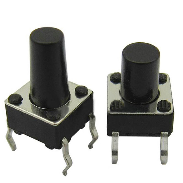 new 50pcs 6*6mm micro switch mini push button switch light touch