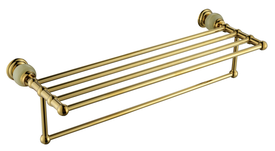 Free shipping Brass & stone Golden Towel Rack, Gold Towel Bar,Towel Holder CY008S free shipping brass & stone golden towel rack gold towel bar towel holder cy008s