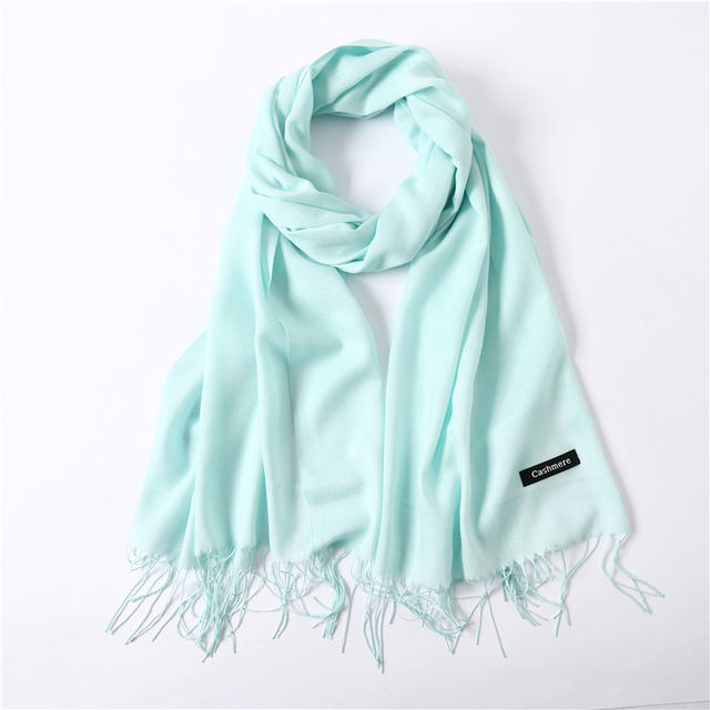 Fashion summer thin solid shawls and wraps long foulard head scarves 1