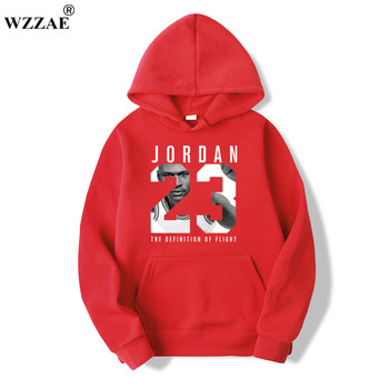 WZZAE 2019 Brand  New Fashion JORDA 23 Men Sportswear Print Men Hoodies Pullover Hip Hop Mens tracksuit Sweatshirts Clothing 1
