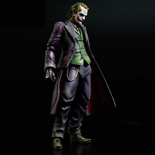 XINDUPLAN DC Comics Play Arts Kai Justice League Movie Joker Batman Movable Action Figure Toys 27cm Kids Collection Model 0276 xinduplan dc comics play arts kai justice league batman reloading dawn justice action figure toys 25cm collection model 0637