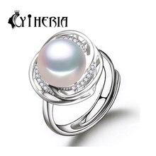 CYTHERIA 100% natural Pearl rings,Drop Shape Natural Freshwater Pearl s925 Silver ring Free Shipping