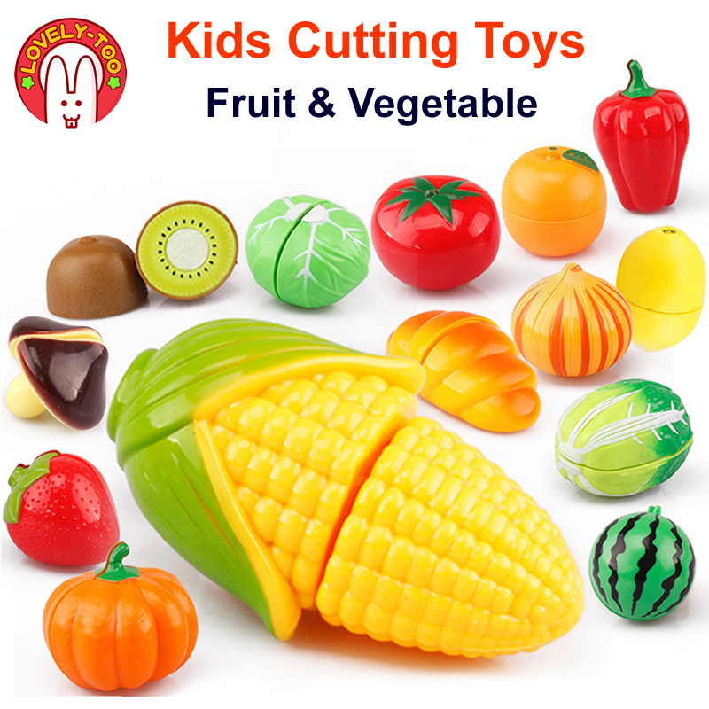 Kids Kitchen Goods Accessories Cutting Toys Miniature Food Set Fruit Vegetable Pretand Play Games Children's Educational Toy