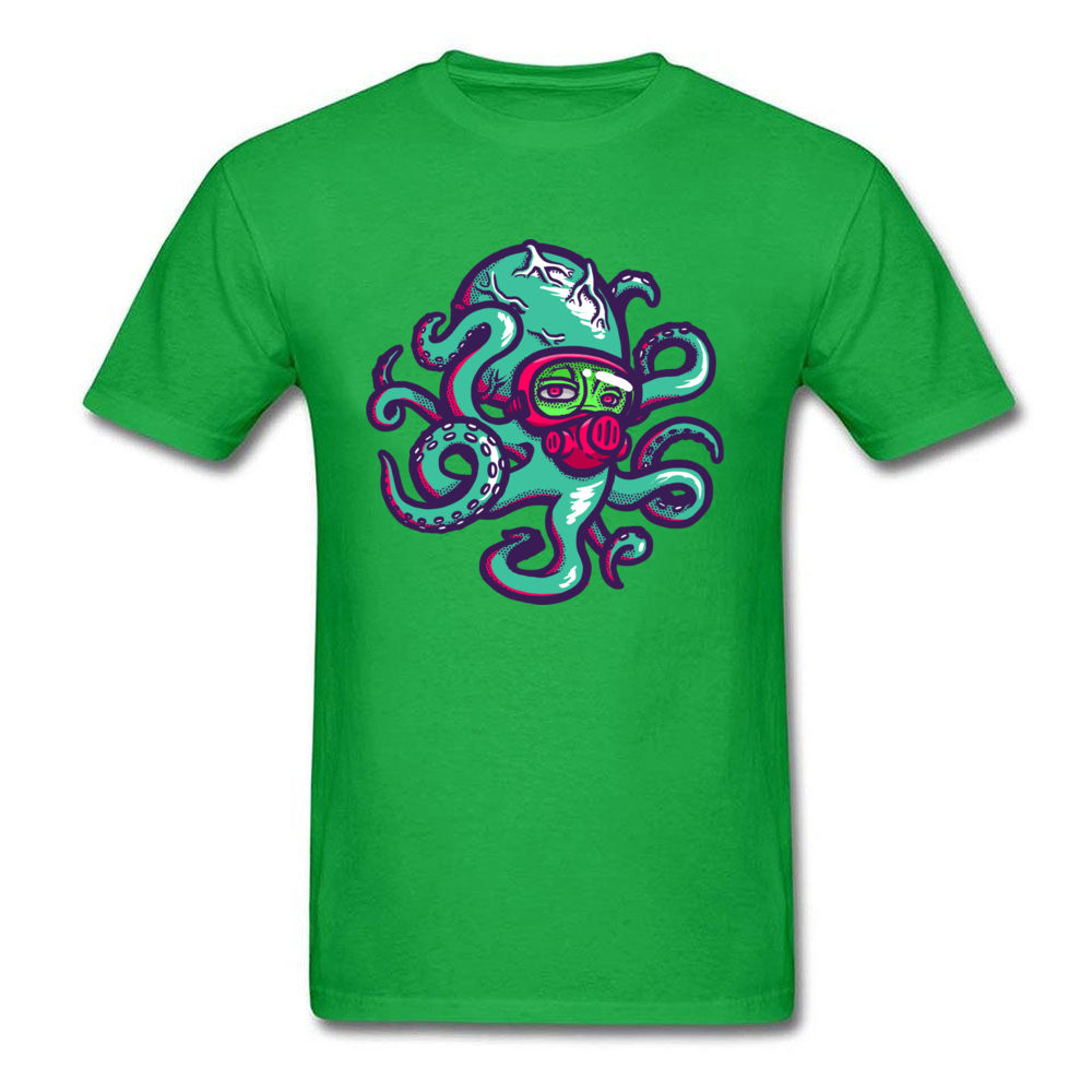 Camisa Nima the Octopus Tshirts Prevailing Autumn Short Sleeve Round Collar Tops Shirt Cotton Adult Classic Tee Shirts Nima the Octopus green