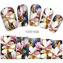 2018 New Models, Watermark Stickers, Chrysanthemums, Small Fresh Nail Applique, Stickers.Hot Selling Goods YZW1410