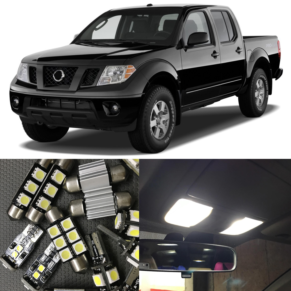 Popular nissan frontier lights buy cheap nissan frontier lights 10pcs white led light bulbs interior package kit for 2005 2009 nissan frontier map dome vanachro Gallery