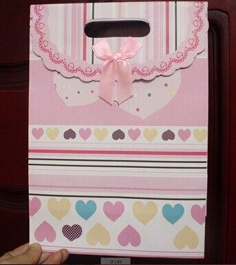 0e4c68862 600 unids Nuevo Llega Stand up bolso de la manija sólida bolsos del favor  bolsas de papel de regalo colorido grueso y fuerte