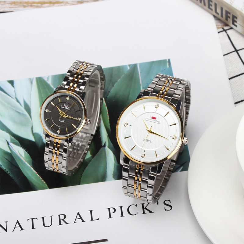 Gold Sliver Men Watch Automatic Sports Watches Woman Casual Clock Alloy Waterproof Business Automatic Couple Wristwatch Relogio in Women 39 s Watches from Watches